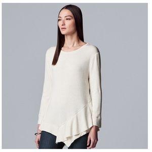 Simply Vera Vera Wang ruffle sweatshirt